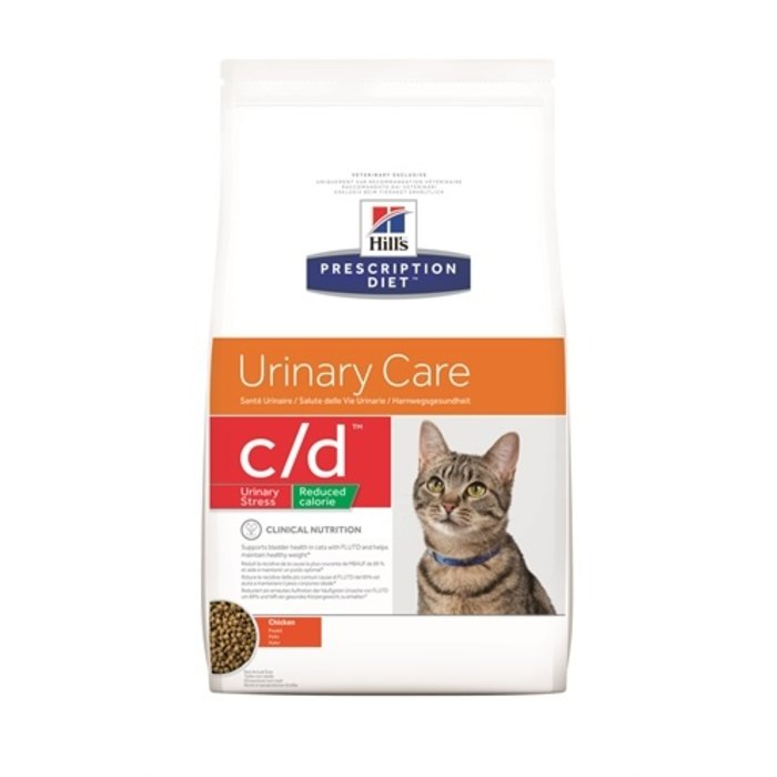 Hill's feline c/d urinary stress reduced calories