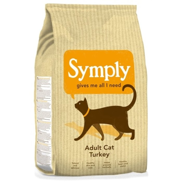 Symply cat adult kattenvoer kalkoen