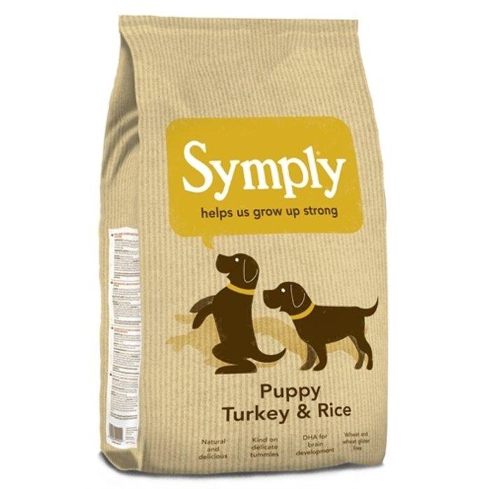 Symply puppy kalkoen/rijst