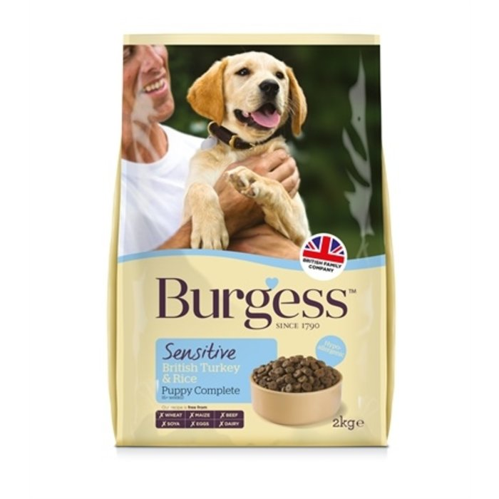 Burgess dog sensitive puppy kalkoen / rijst