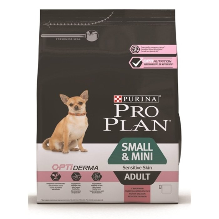 Pro plan dog adult small/mini sensitive skin zalm