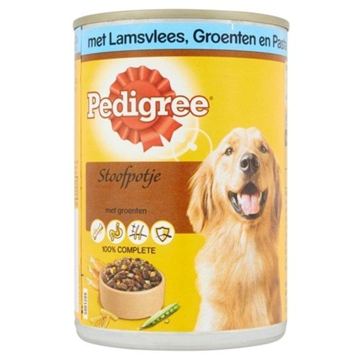 12x pedigree blik adult stoofpotje lam / groenten / pasta