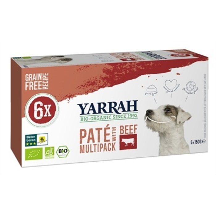 Yarrah dog alu pate multipack beef / chicken