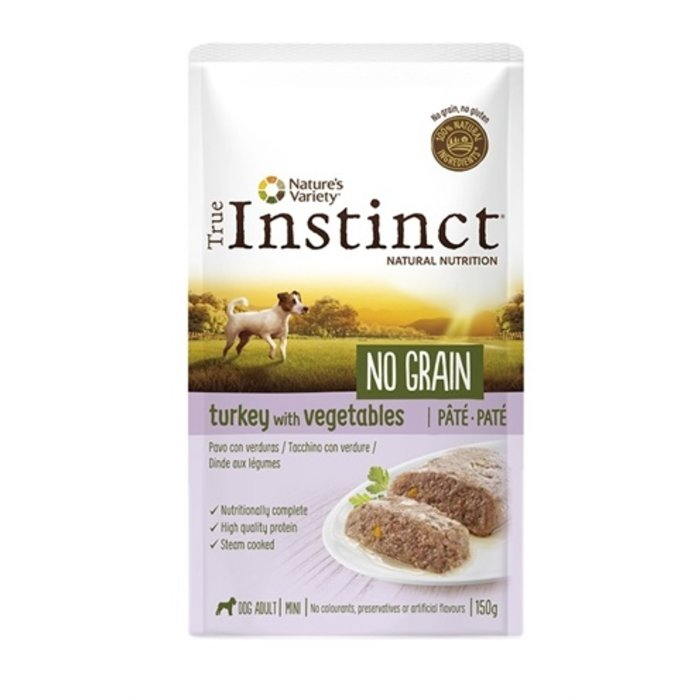 True instinct mini turkey pate grain free pouch
