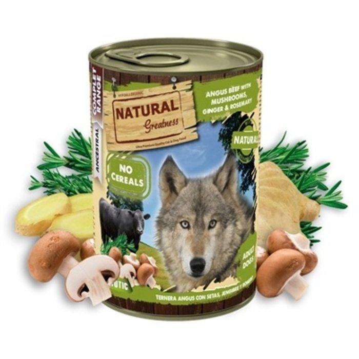Natural greatness angus beef / mushrooms / ginger / rosemary