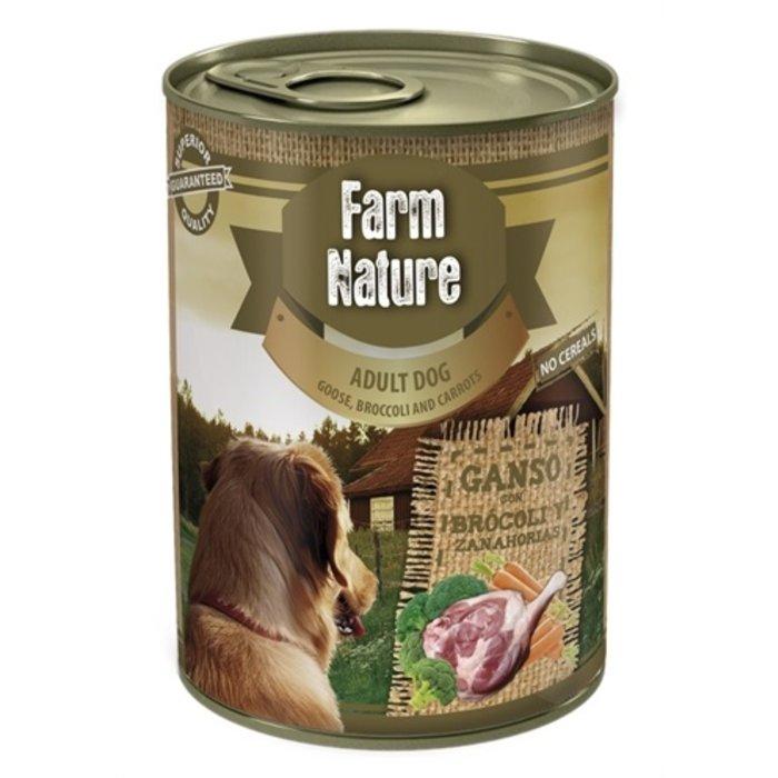 Farm nature goose / broccoli / carrots