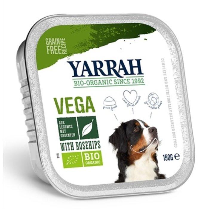Yarrah dog alu brokjes vega met rozenbottels