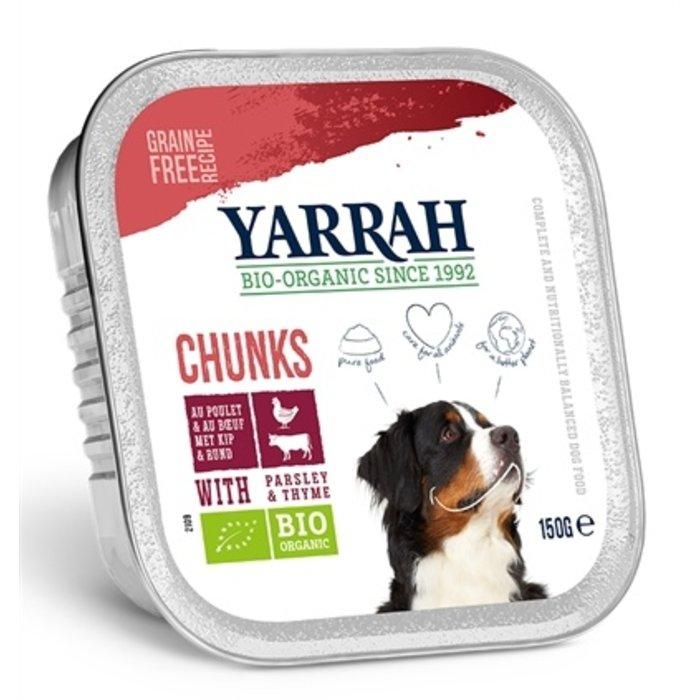 Yarrah dog alu brokjes rund met peterselie / tijm in saus graanvrij