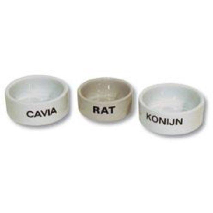 Cavia eetbak steen wit