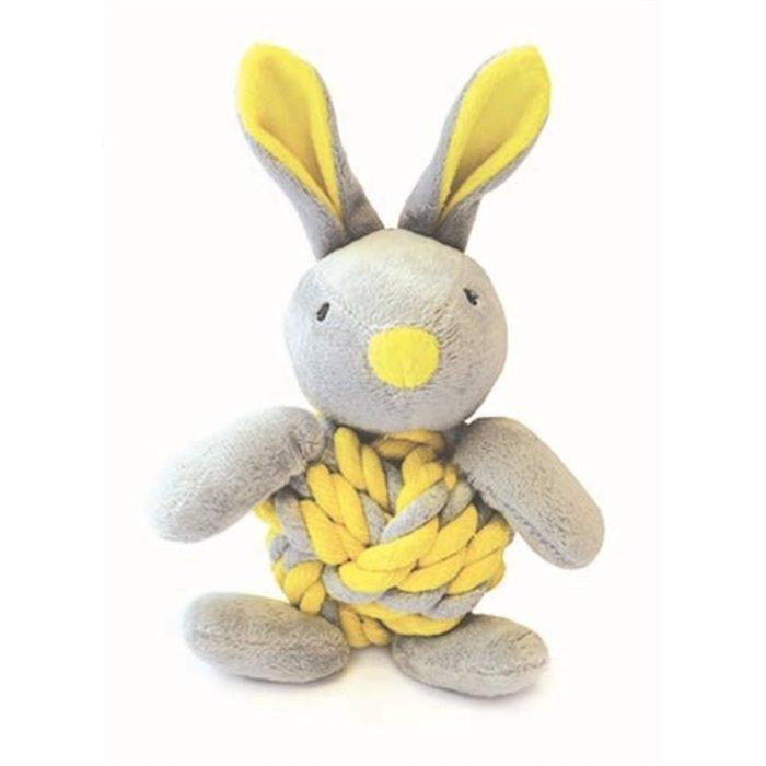 Little rascals knottie bunny touwbal konijn geel
