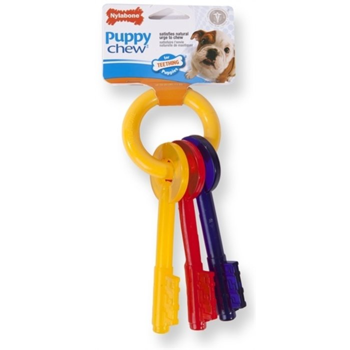 Nylabone puppy chew bijtsleutels baconsmaak