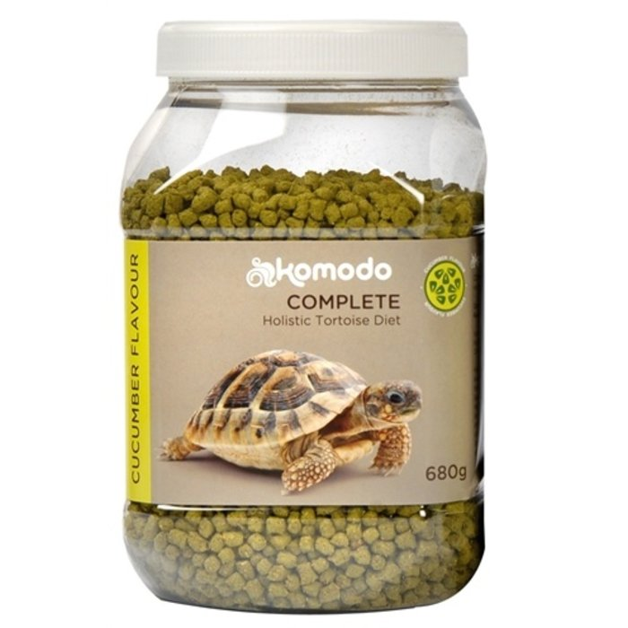 Komodo voer schildpad komkommer