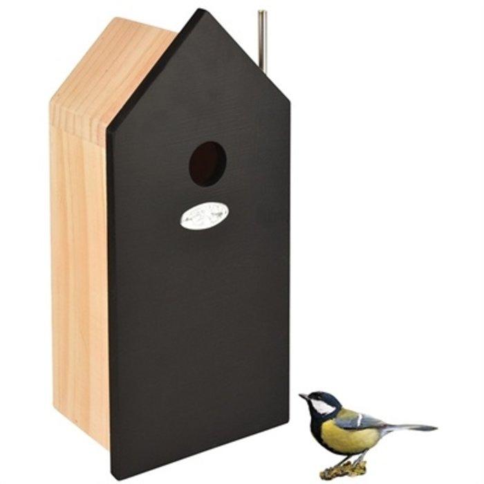 Best for birds nestkast huis koolmees hout / zwart
