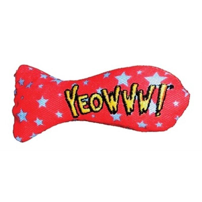Yeowww stinkies catnip sardientje met sterren