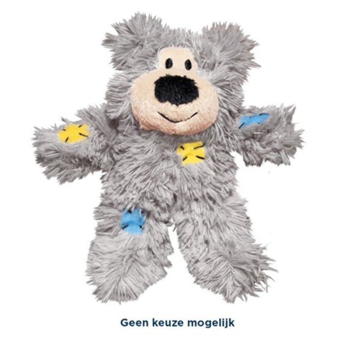 Kong cat softies patchwork bear assorti