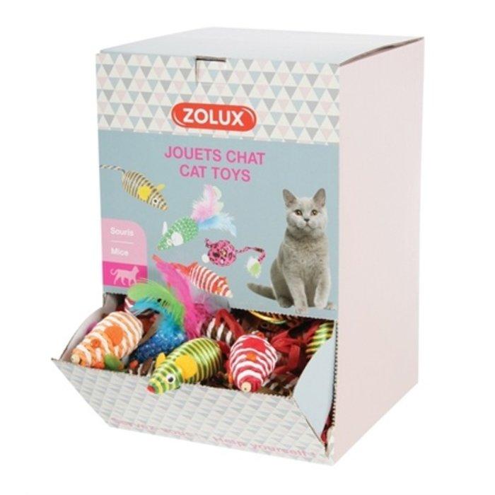 Zolux display speelmuizen kat assorti