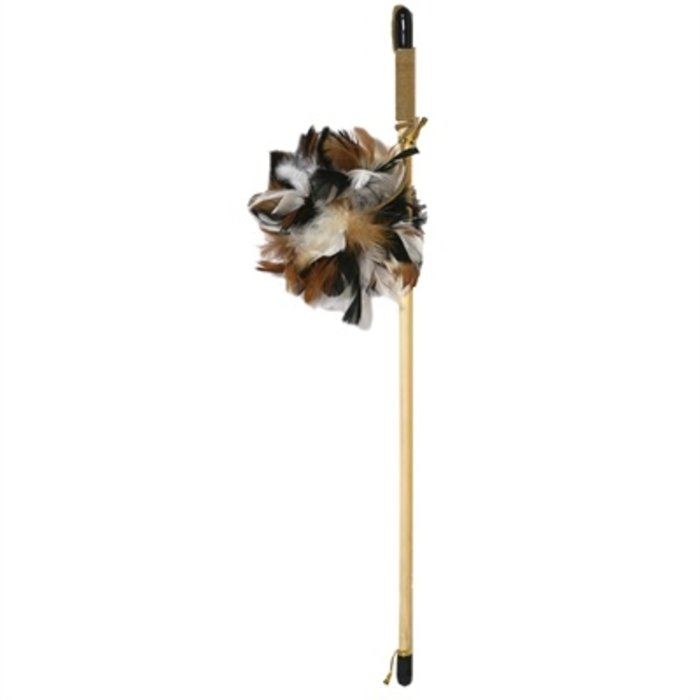 Jolly moggy natural wild kattenhengel feather