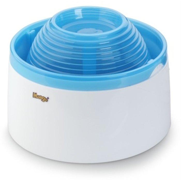 Ebi pet water feeder mango wit/blauw