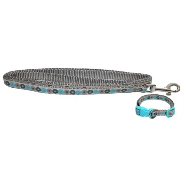 Little rascals puppy halsband met lijn blauw