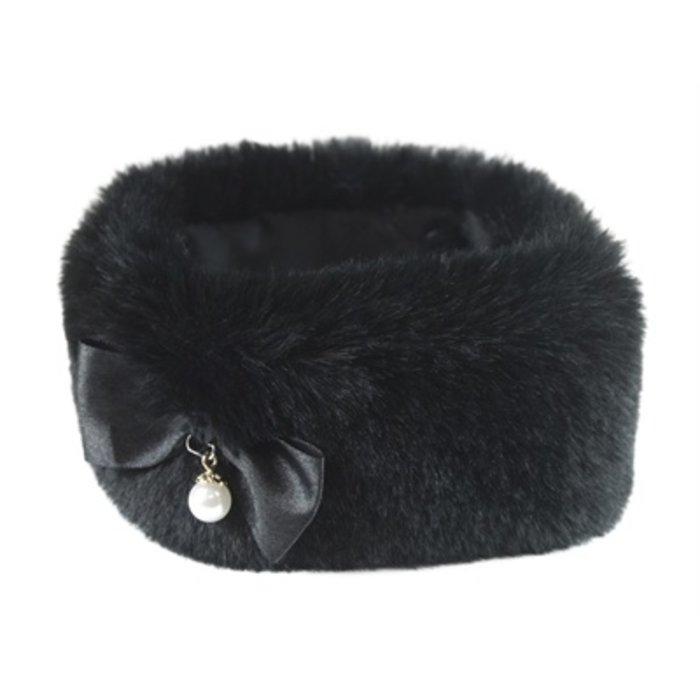Croci halsband hond darklady imitatiebont zwart