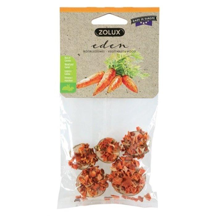 Zolux eden houtschijfjes met wortel