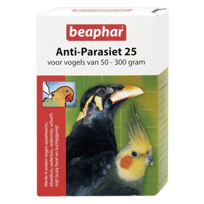 Beaphar anti-parasiet 25 vogel (50-300gr)