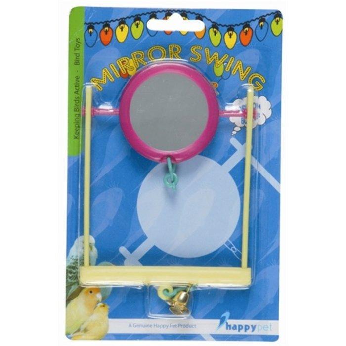 Happy pet fun at the fair mirror swing