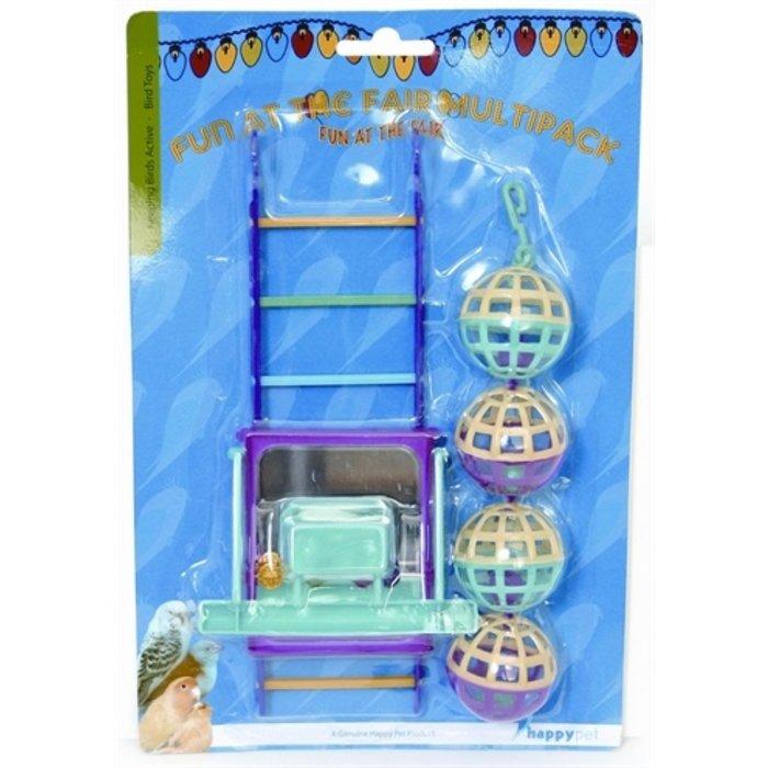 Happy pet bird toy mp bal/ladder/perch