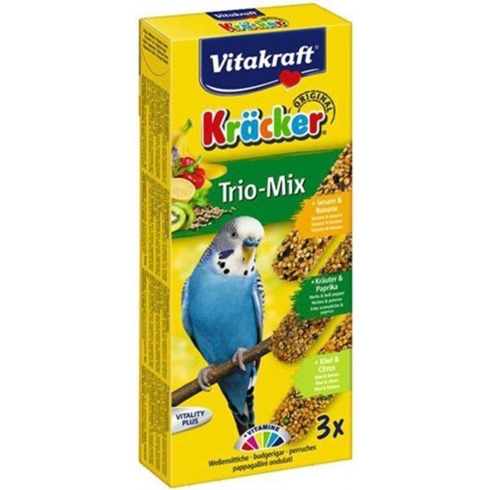 Vitakraft parkiet kracker vijgen/banaan-sesam/kiwi
