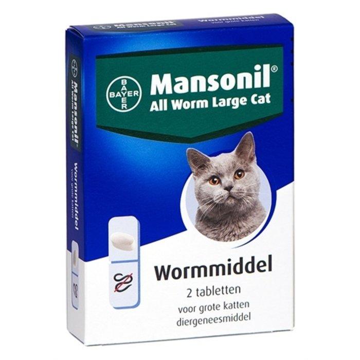 Mansonil grote kat all worm tabletten