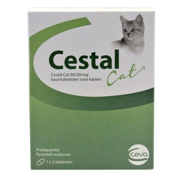 Ceva cestal cat 80/20 mg kauwtabletten