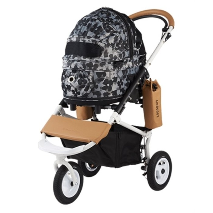 Airbuggy hondenbuggy dome2 sm met rem flower camo