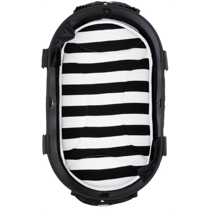 Airbuggy mat voor dome2 sm streep zwart / wit