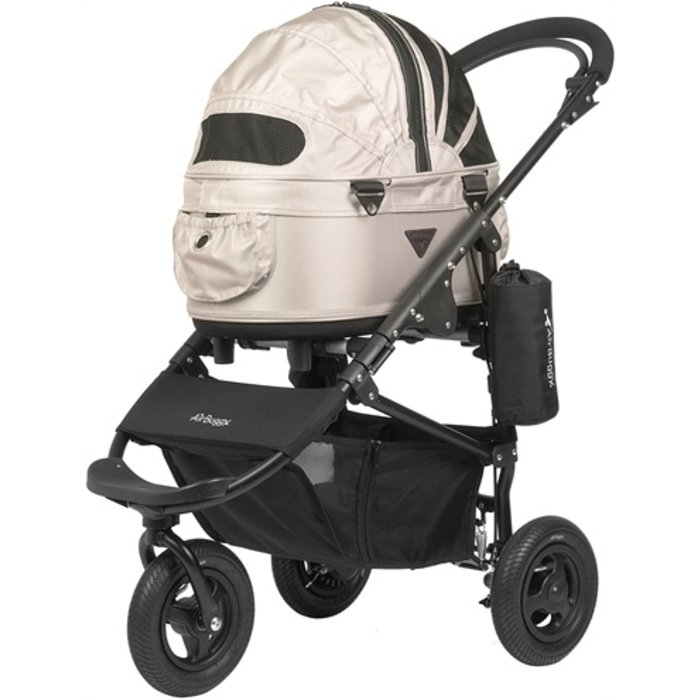 Airbuggy hondenbuggy dome2 sm met rem sand beige