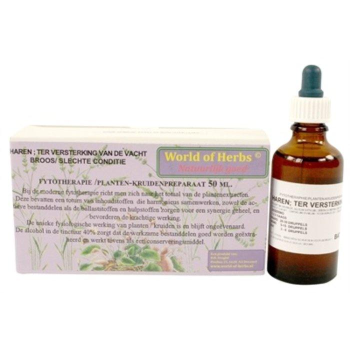 World of herbs fytotherapie haren vachtversterking