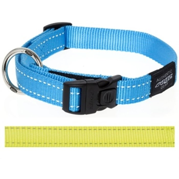 Rogz for dogs fanbelt halsband geel