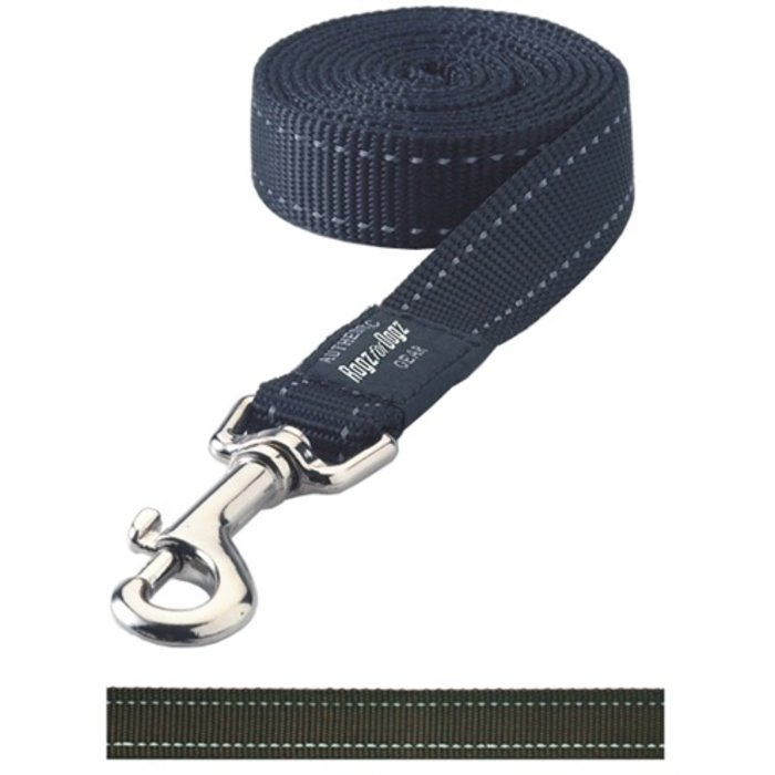 Rogz for dogs fanbelt long lijn choco