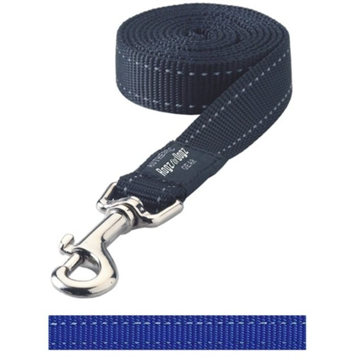 Rogz for dogs fanbelt long lijn blauw