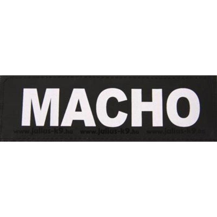 Julius k9 labels voor power-harnas/tuig macho