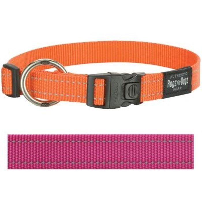 Rogz for dogs fanbelt halsband roze