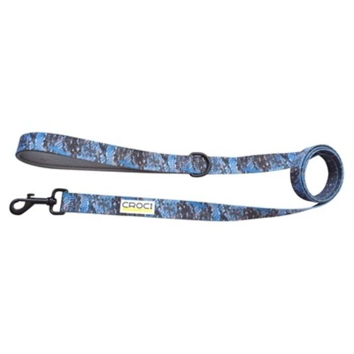 Croci hondenriem jackson tweezijdig blauw / grijs