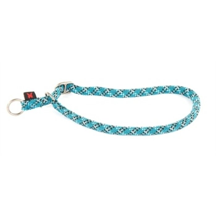Halsband semi choker reflecterend blauw
