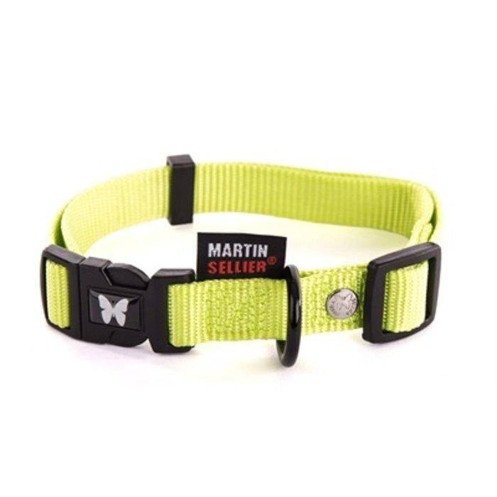 Martin sellier halsband nylon groen verstelbaar