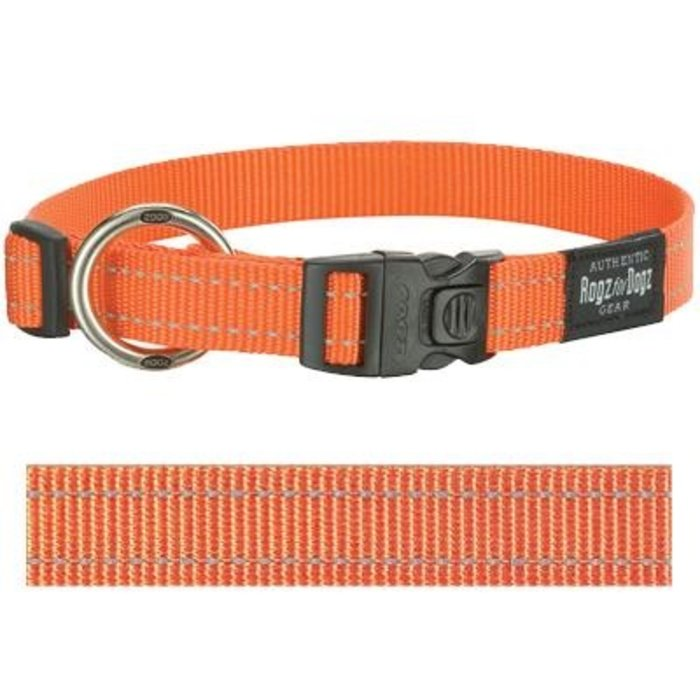 Rogz for dogs fanbelt halsband oranje