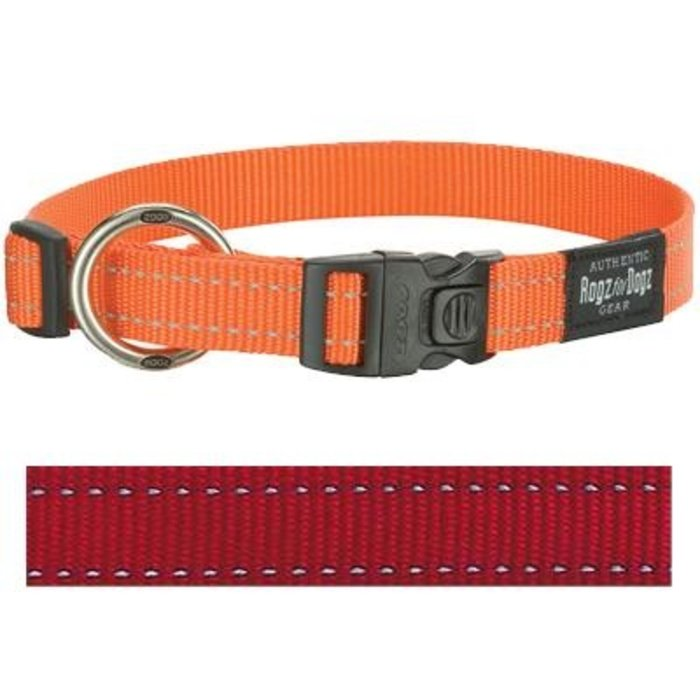 Rogz for dogs fanbelt halsband rood