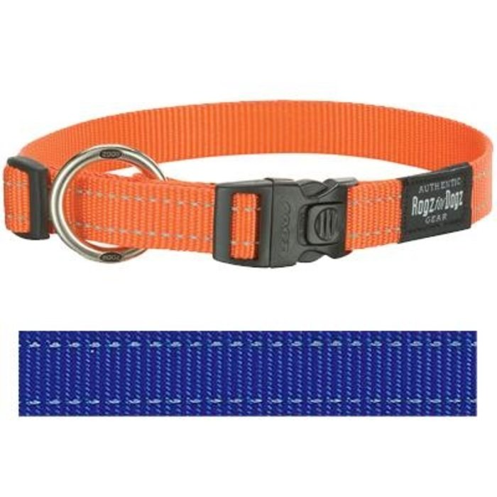 Rogz for dogs fanbelt halsband blauw