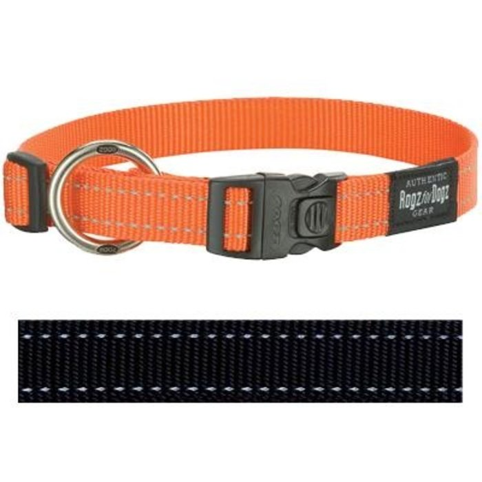 Rogz for dogs fanbelt halsband zwart