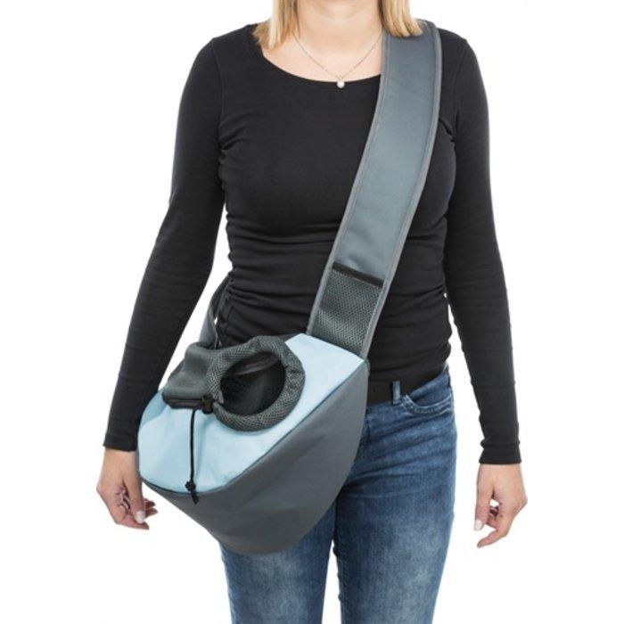 Trixie buikdrager sling draagtas lichtgrijs / lichtblauw