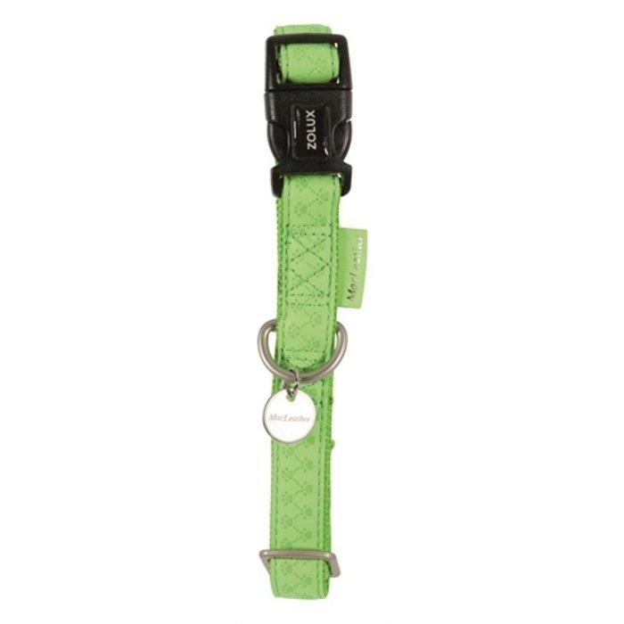 Macleather halsband groen