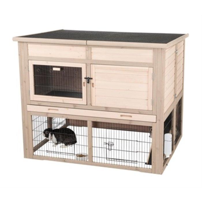 Trixie natura konijnenhok xl met isolatie grijs